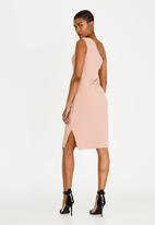 STYLE REPUBLIC - One Shoulder Bodycon Dress Mid Pink