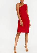 STYLE REPUBLIC - One Shoulder Bodycon Dress Red