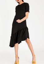 STYLE REPUBLIC - Frill Detail T-Shirt Dress Black