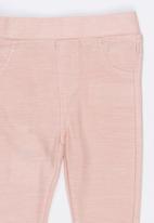 MINOTI - Super Jeggings with Mock Pockets Pale Pink