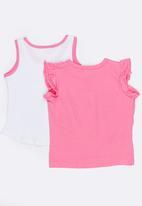 POP CANDY - Printed Tee 2 Pack Set Mid Pink