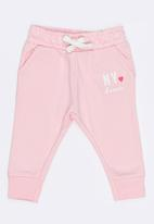 MINOTI - Basic Fleece Joggers Mid Pink