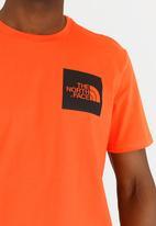 The North Face - Short sleeve fine tee - orange