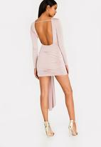 Sissy Boy - Boity Slinky Asymetric Dress Pale Pink