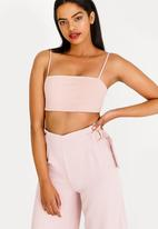 Sissy Boy - Boity Square Neck Crop Top Mid Pink