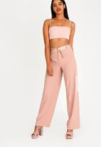 Sissy Boy - Boity High Waisted Luxe Trousers Pale Pink