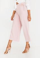 Sissy Boy - Boity High Waisted Flare Trousers Rose