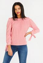 c(inch) - Bardot Blouse Red
