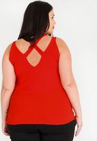 edit Plus - Strappy Back Cami red