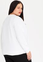 STYLE REPUBLIC PLUS - Luxe Print Sweater White