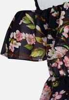 POP CANDY - Floral printed flounce dress - multi-colour
