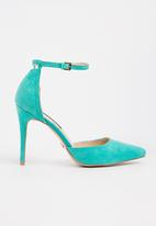 Cherry Collection - Ankle Strap Heels Mint