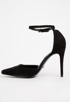 Cherry Collection - Ankle Strap Heels Black