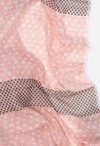 STYLE REPUBLIC - Polka Dot Scarf Pale Pink