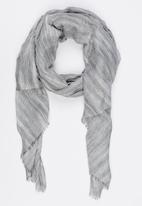STYLE REPUBLIC - Multi Stripe Scarf Pale Grey