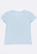 GUESS - Guess Henley Tee Pale Blue