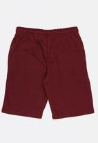 Twin Clothing - Quilted Fleece Shorts Burgundy