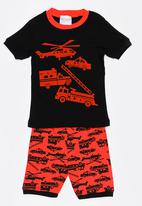 POP CANDY - Short Sleeve Printed Pj Set - Red