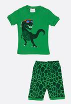 POP CANDY - Short Sleeve Printed Pj Set  - Green