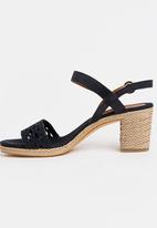 Tommy Hilfiger - Woven Detail Heels Navy