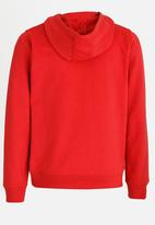 MINOTI - Basic Fleece Zip Thru Hoodie Red