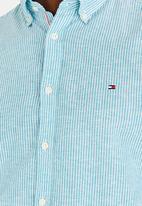 Tommy Hilfiger - Cotton Linen Stripe Shirt Green