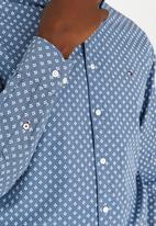 Tommy Hilfiger - Small Flower Print Shirt Blue