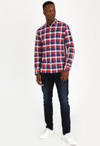 Tommy Hilfiger - Textured Check Shirt Blue
