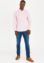 Tommy Hilfiger - Cotton linen stripe shirt - white/pink