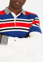 Tommy Hilfiger - Striped Zip Sweater White