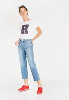 Tommy Hilfiger - Straight Leg Cropped Jeans Mid Blue