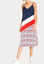 Tommy Hilfiger - Colour block dress - navy & white