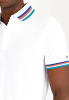 Tommy Hilfiger - Tipped Polo Golfer White