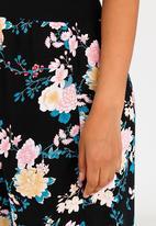 edit Maternity - Wide Leg Maternity Pants Floral
