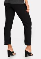 edit Maternity - Cropped Work Pants Black