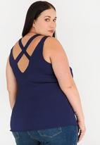 edit Plus - Strappy Back Cami Navy