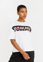 Tommy Hilfiger - Floral Logo Tee White