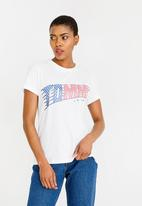 Tommy Hilfiger - American Flag Graphic Tee White