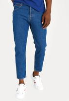 Tommy Hilfiger - Relaxed Cropped Denim Pants Blue