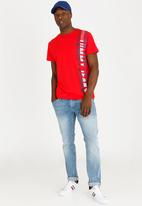 Tommy Hilfiger - Vertical Tee Red