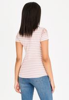 Sissy Boy - Rira Stripe One Up Top Pale Pink
