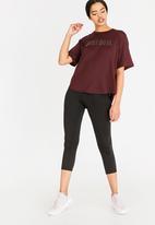Nike - Nike Dry Short Sleeve Training Top Burgundy