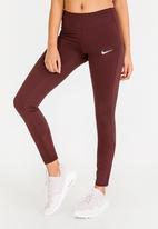 Nike - Nike Running Leggings Burgundy