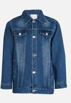 POP CANDY - Relaxed Denim Jacket Blue