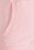 MINOTI - Basic Fleece Zip Thru Hoodie Pale Pink