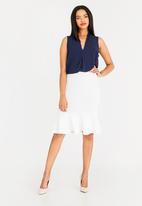 edit - Peplum skirt - white