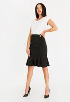 edit - Peplum skirt - black