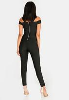 Sissy Boy - Lavia Bandage Cold Shoulder Jumpsuit Black