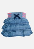 POP CANDY - Denim frill skirt - blue
