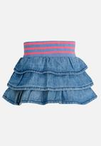 POP CANDY - Denim frill skirt - blue